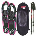 Redfeather Hike Series 7.5โ€ X 22โ€ Womens Snowshoes Kit – Black