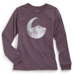 Ems Girls Ride Moon Mountain Graphic Tee – Purple – Size YOUTH L