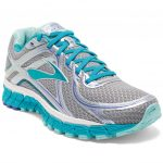 Brooks Womens Adrenaline Gts 16 Running Shoes, Silver/bluebird – Black
