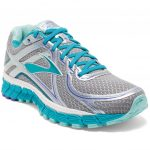 Brooks Womens Adrenaline Gts 16 Running Shoes, Wide, Silver/bluebird – Black