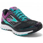 Brooks Womens Ghost 9 Running Shoes, Wide, Black/sparkling Grape – Black